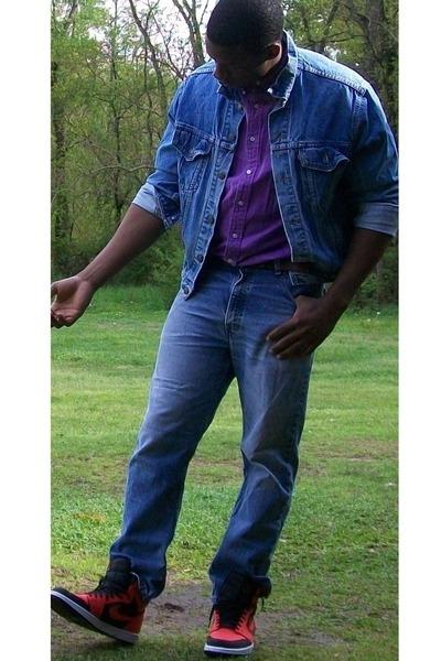 Levis jacket - Levis 550 jeans - Polo shirt - Smorkin Labbit accessories - jorda