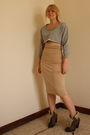 Gray-primark-sweater-beige-handmade-by-my-tailor-skirt-brown-topshop-boots