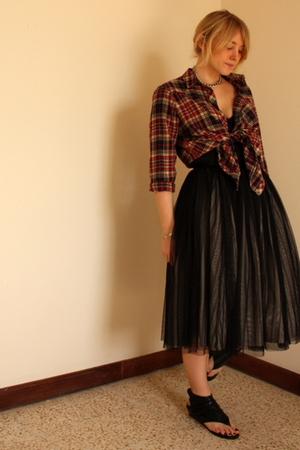 Topshop shirt - handmade by tailor skirt - Office shoes - vintage bracelet - vin