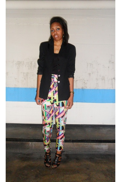 black Limited thrifted blazer - multi colored Esprit thrifted pants