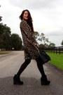 Black-faux-fur-h-m-bag-black-forever-21-wedges-dark-brown-vintage-cardigan