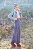 Bershka jacket - American Eagle blouse - Zara skirt - Bamboo wedges - vintage be