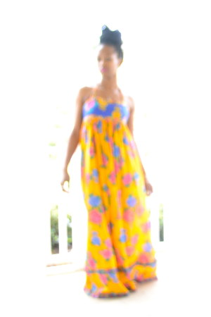 flowers maxi dress