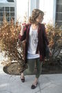 Green-old-navy-leggings-brown-alloy-shoes-beige-forever-21-shirt