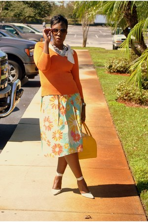DIY skirt - Furla bag - ann taylor blouse - BCBG pumps