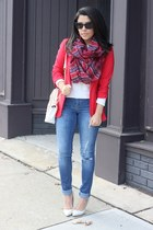 Charlotte Russe scarf - distressed dittos jeans - Charlotte Russe blazer