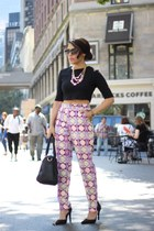 crop Forever21 top - Prima Donna bag - Prima Donna pumps