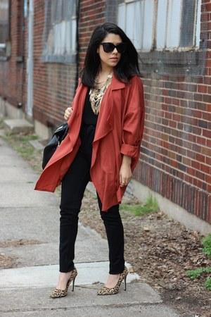 H&M jacket - H&M pants - leopard print Tamar Collection heels