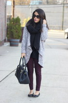 oversized Dynamite cardigan - Dynamite leggings - Prima Donna bag