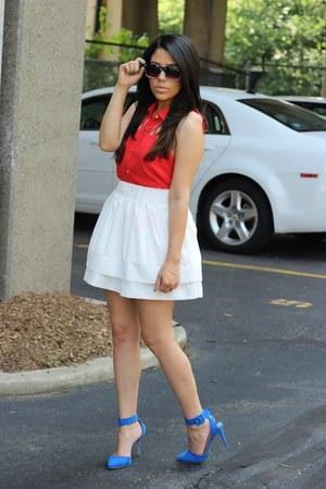 furor moda skirt - Charlotte Russe top - r31nvented heels