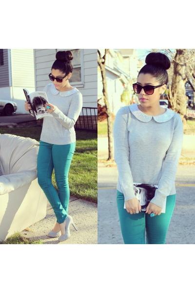 H&M jeans - H&M sweater - Mandee heels
