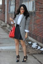 Sheinside coat - button down Forever21 shirt - Olivia  Joy bag