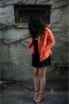 moto Forever21 jacket - skater Charlotte Russe skirt - color block Zara heels