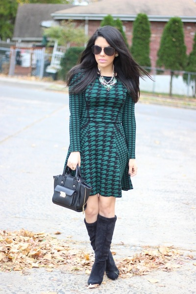 Shoedazzle boots - Torn by Ronny Kobo dress