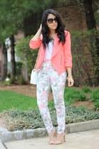 Luna B blazer - Zara heels - floral Aeropostale pants