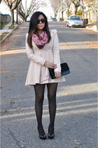 OASAP coat - H&M scarf - Mandee heels