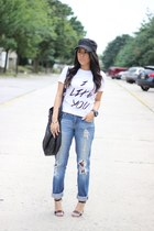 boyfriend Love Culture jeans - H&M bag - Charlotte Russe heels