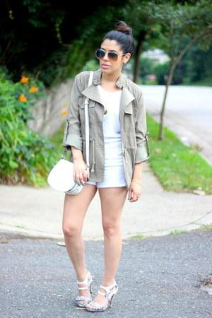 anorak Charlotte Russe jacket - white tee H&M shirt - H&M bag