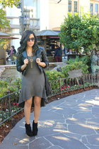 Steve Madden boots - Forever21 dress - H&M jacket