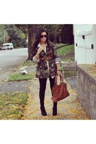 camo SXVintage jacket - Forever21 leggings - F&W Style bag - Steve Madden heels