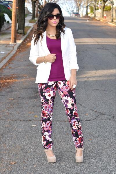 Mandee jeans - Forever21 blazer - Target top - Mandee heels