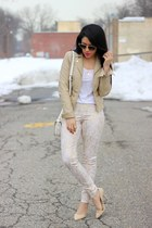 snakeskin print HUE pants - faux leather Charlotte Russe jacket