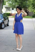 H&M necklace - cut out Style Era dress - Shoedazzle pumps