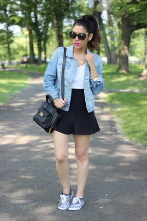 denim jacket Old Navy jacket - skater Zara skirt - canvas Mandee sneakers