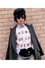 Sky-blue-diesel-jeans-dark-gray-dolce-gabbana-hat-periwinkle-zara-shirt