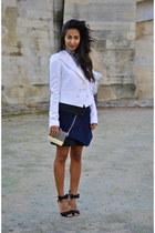 white Givenchy blazer - navy PROENZA SCHOULER skirt - black Gianvito Rossi heels