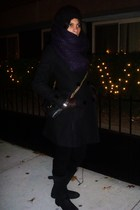 H&M hat - Zara scarf - H&M coat - Urban Outfitters purse - Club Monaco jeans - S