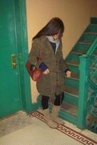 H&M scarf - Zara jacket - H&M purse - Steve Madden boots