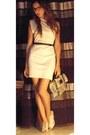 One-shoulder-american-apparel-dress-snakeskin-adolpho-dominguez-bag-vintage-