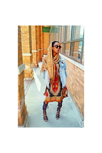 maroon african print handmade dress