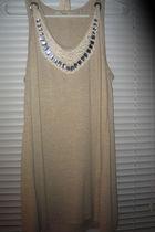 beige Forever 21 shirt - gray Forever21 shirt - white Forever21 cardigan - white