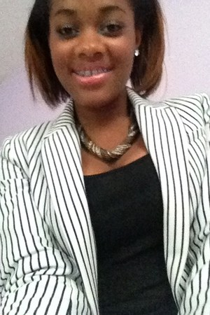 ivory H&M blazer - silver Target necklace