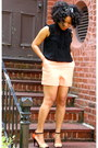 Light-orange-shorts-diy-shorts