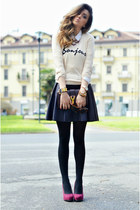In Love with Fashion skirt - YSL bag - OASAP cardigan