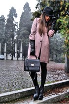 asos boots - Moschino coat - DSquared hat - vintage bag