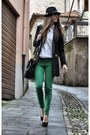 Chartreuse-zara-jeans-black-dsquared-hat-black-moschino-blazer-black-miss-