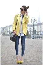 light yellow gianfranco ferre jacket - light yellow sarenzait shoes