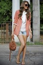 Coral-forever-21-blazer-sky-blue-miss-sixty-shorts
