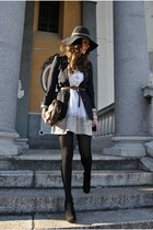 black asos jacket - black Prima Donna heels - ivory Pinko accessories