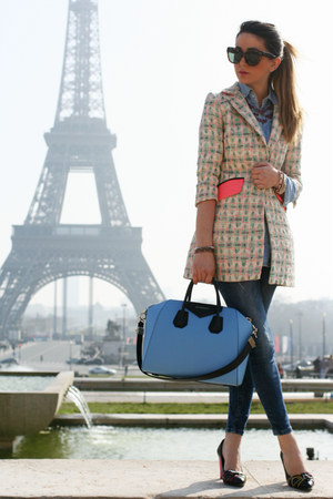 aquamarine milly new york blazer - blue Zara jeans - Givenchy bag