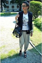 silver Dixie pants - black vitulli shoes - white style x style t-shirt - black a