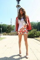 carrot orange H&M jacket - sarenzait shoes - carrot orange Romwecom shorts