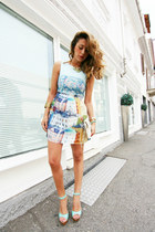 light blue Joliemoicouk dress - aquamarine luluscom sandals