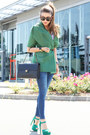 Blue-zara-jeans-turquoise-blue-gianfranco-ferre-jacket-black-chanel-bag