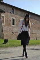 peach Prada blazer - black asos boots - black Luisa Beccaria shirt