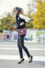 Charcoal-gray-zara-jeans-ruby-red-hiburama-bag-dark-gray-romwe-cardigan